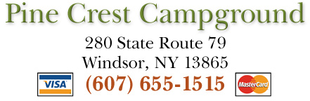 Pine Crest Campground, 280 State Route 79, Windsor, NY 13865 - (607) 655-1515